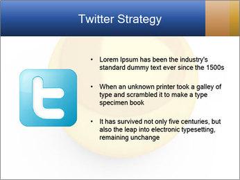 3D Yellow Bowling Ball PowerPoint Template - Slide 9
