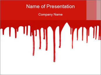 Realistic Blood PowerPoint Template - Slide 1