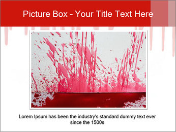 Realistic Blood PowerPoint Template - Slide 16