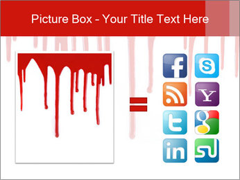 Realistic Blood PowerPoint Template - Slide 21