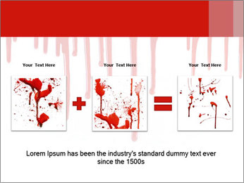 Realistic Blood PowerPoint Templates - Slide 22