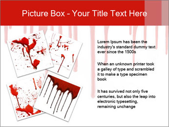 Realistic Blood PowerPoint Template - Slide 23