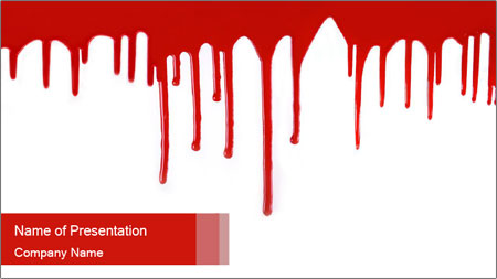 Realistic Blood PowerPoint Template