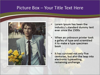 Attractive Guy with Yellow Tulips PowerPoint Templates - Slide 13