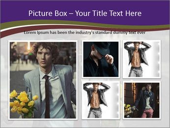 Attractive Guy with Yellow Tulips PowerPoint Templates - Slide 19