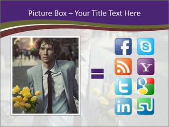 Attractive Guy with Yellow Tulips PowerPoint Templates - Slide 21