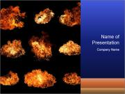 Fire Collage PowerPoint Templates