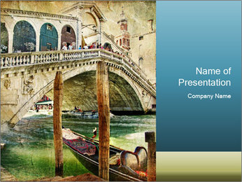 Venice Oil Painting PowerPoint Template - Slide 1