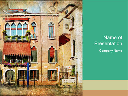 Venice Painting PowerPoint Template