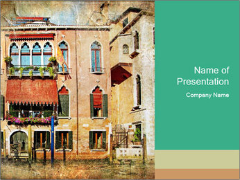 Venice Painting PowerPoint Template - Slide 1