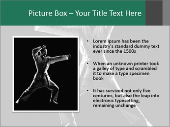 Silhouette of Martial Fighter PowerPoint Template - Slide 13