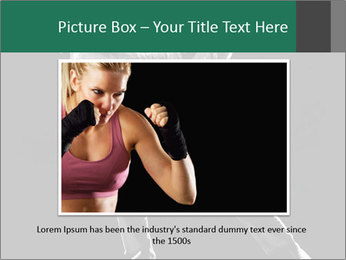 Silhouette of Martial Fighter PowerPoint Template - Slide 15