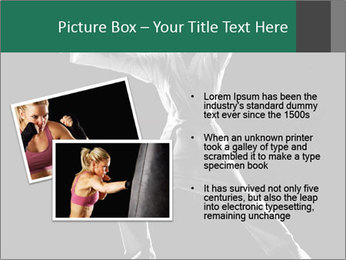 Silhouette of Martial Fighter PowerPoint Template - Slide 20