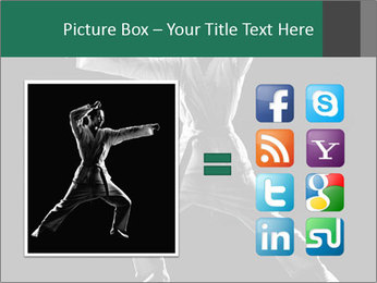 Silhouette of Martial Fighter PowerPoint Template - Slide 21