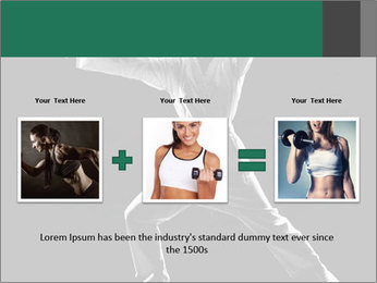 Silhouette of Martial Fighter PowerPoint Template - Slide 22