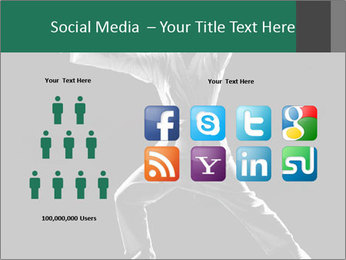 Silhouette of Martial Fighter PowerPoint Template - Slide 5