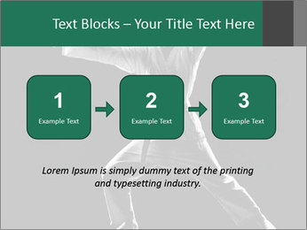 Silhouette of Martial Fighter PowerPoint Template - Slide 71