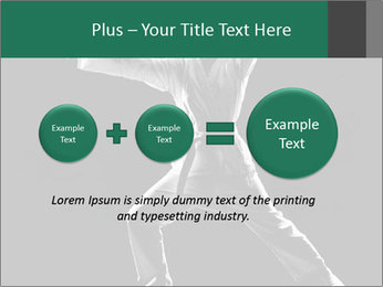 Silhouette of Martial Fighter PowerPoint Template - Slide 75