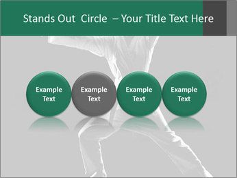 Silhouette of Martial Fighter PowerPoint Template - Slide 76