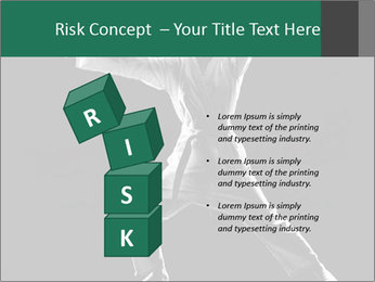 Silhouette of Martial Fighter PowerPoint Template - Slide 81