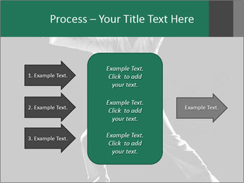 Silhouette of Martial Fighter PowerPoint Template - Slide 85