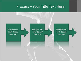 Silhouette of Martial Fighter PowerPoint Template - Slide 88