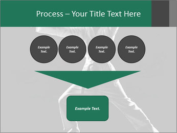 Silhouette of Martial Fighter PowerPoint Template - Slide 93