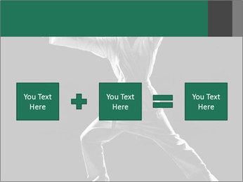 Silhouette of Martial Fighter PowerPoint Template - Slide 95