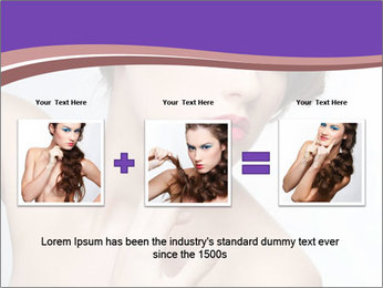 Woman and Creative Makeup PowerPoint Template - Slide 22