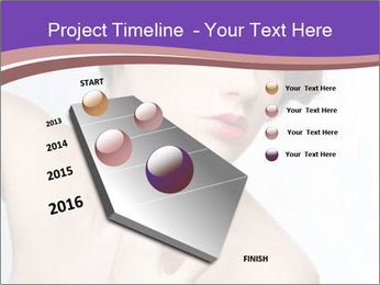 Woman and Creative Makeup PowerPoint Template - Slide 26