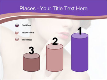 Woman and Creative Makeup PowerPoint Template - Slide 65