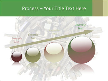 Road Conjunction in Miniature PowerPoint Templates - Slide 87