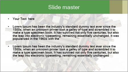 Road Conjunction in Miniature PowerPoint Template - Slide 2