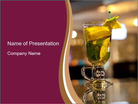 Lime Refreshing Cocktail PowerPoint Template