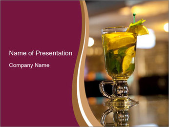 Lime Refreshing Cocktail PowerPoint Template - Slide 1