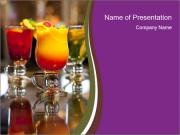 Drink Cocktails in Bar PowerPoint Templates
