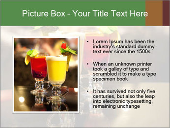 Cocktails Standing at Bar Stand PowerPoint Templates - Slide 13