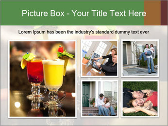 Cocktails Standing at Bar Stand PowerPoint Template - Slide 19