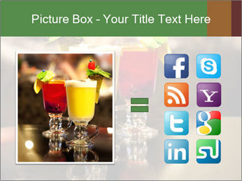 Cocktails Standing at Bar Stand PowerPoint Template - Slide 21