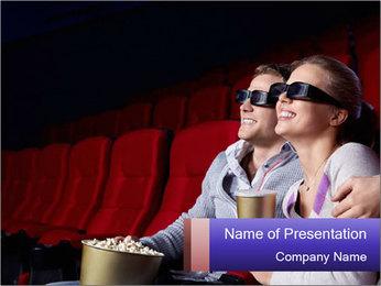 Couple Loves 3D Cinema PowerPoint Template - Slide 1