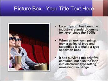 Couple Loves 3D Cinema PowerPoint Template - Slide 13