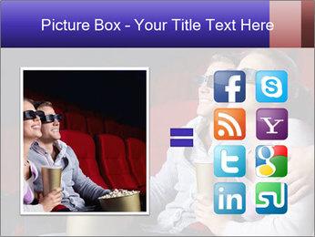 Couple Loves 3D Cinema PowerPoint Template - Slide 21