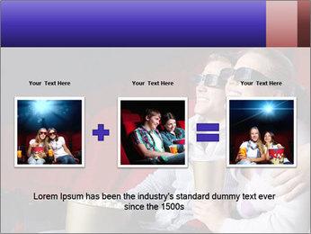 Couple Loves 3D Cinema PowerPoint Template - Slide 22