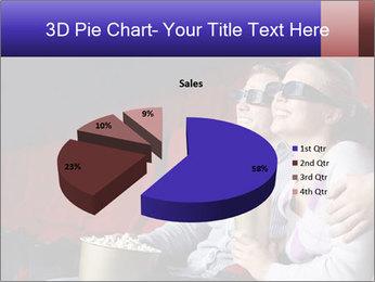 Couple Loves 3D Cinema PowerPoint Template - Slide 35