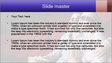 Couple Loves 3D Cinema PowerPoint Template - Slide 2