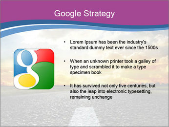 Road and Golden Sky PowerPoint Template - Slide 10