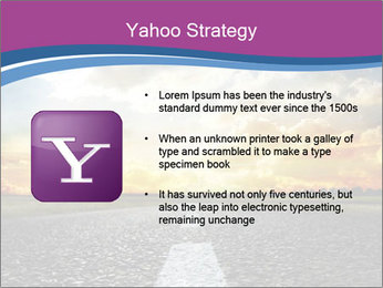 Road and Golden Sky PowerPoint Template - Slide 11