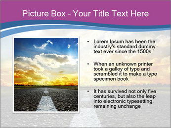 Road and Golden Sky PowerPoint Template - Slide 13