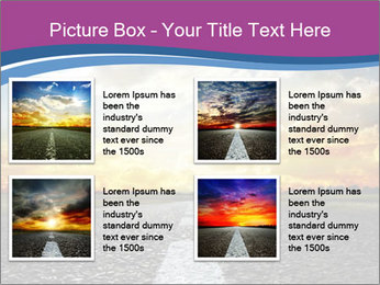 Road and Golden Sky PowerPoint Template - Slide 14