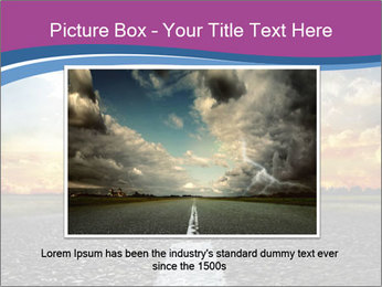 Road and Golden Sky PowerPoint Template - Slide 15